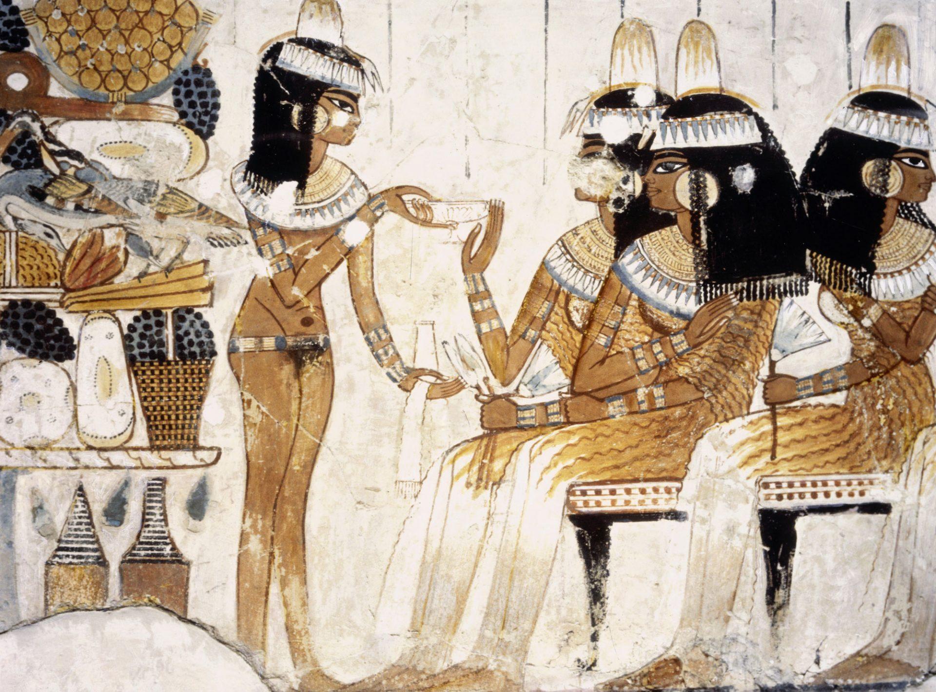 Gammelt bilde av egyptere