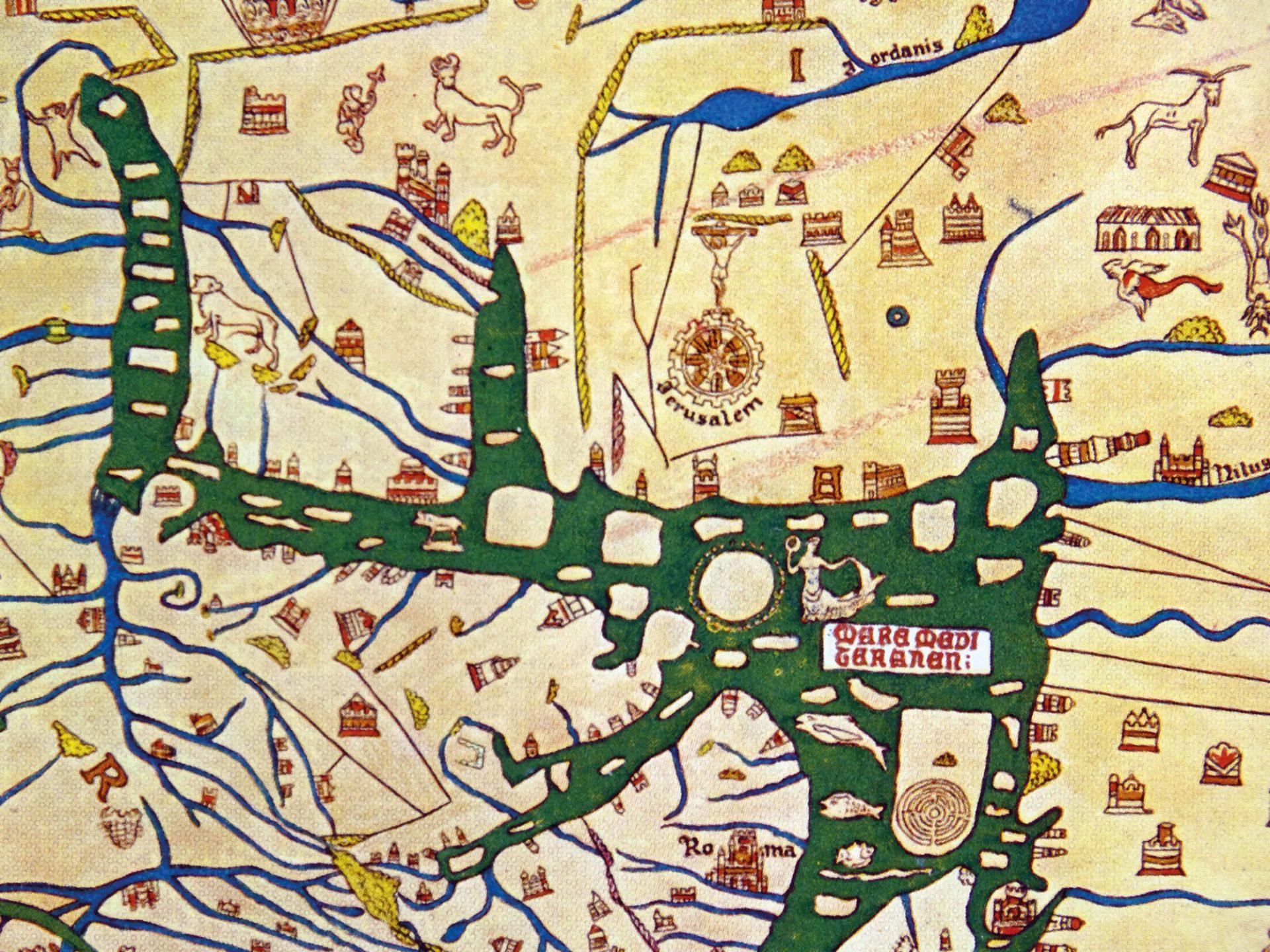Hereford mappa mundi fargelagt