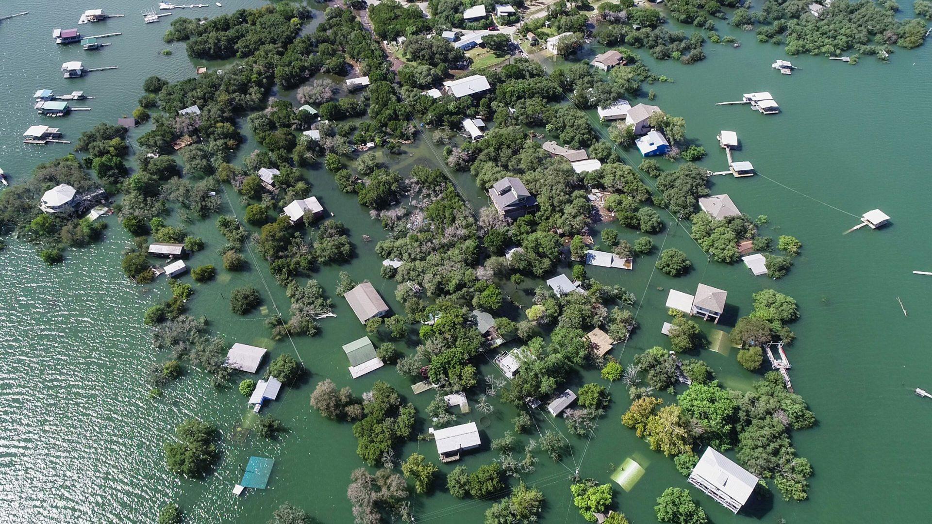 Landsby under vann