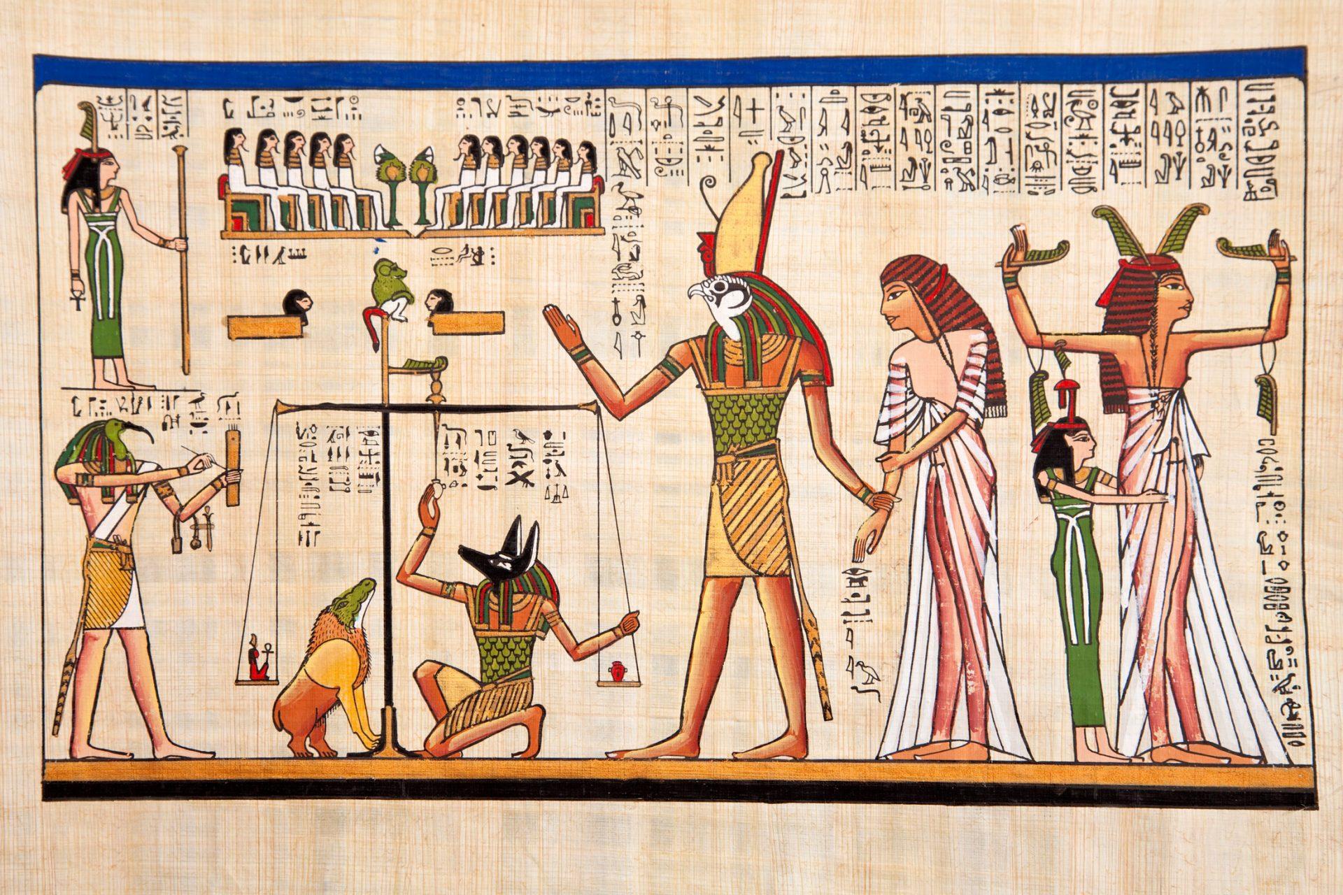 Gammelt egyptisk bilde