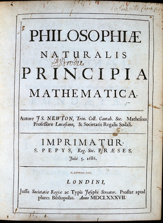 Forside av Isaac Newtons bok