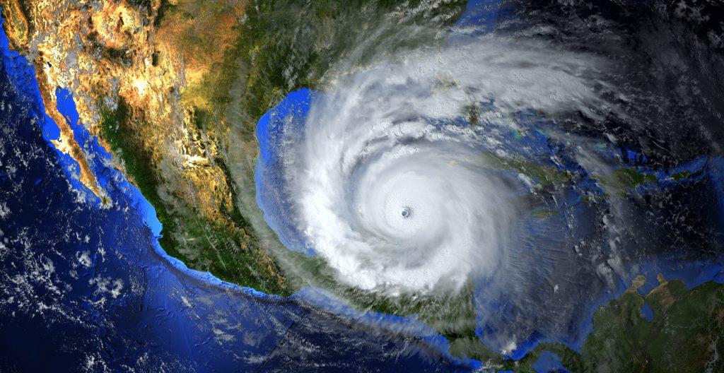 Orkan på vei mot Amerika