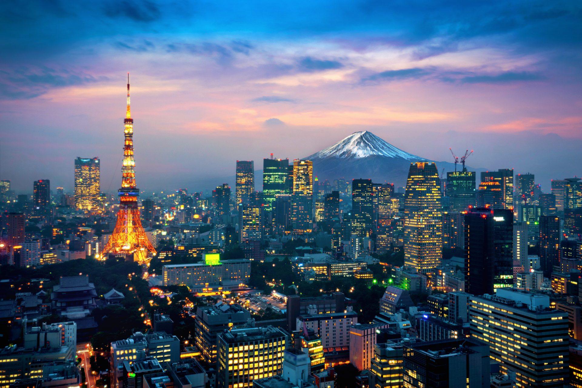 Tokyo vulkan Fuji Japan