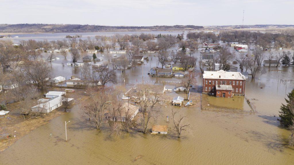 Oversvømmelse, Pacific Junction, Iowa