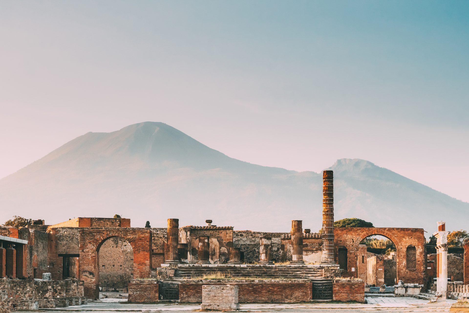 bildet av Pompeii, Italia