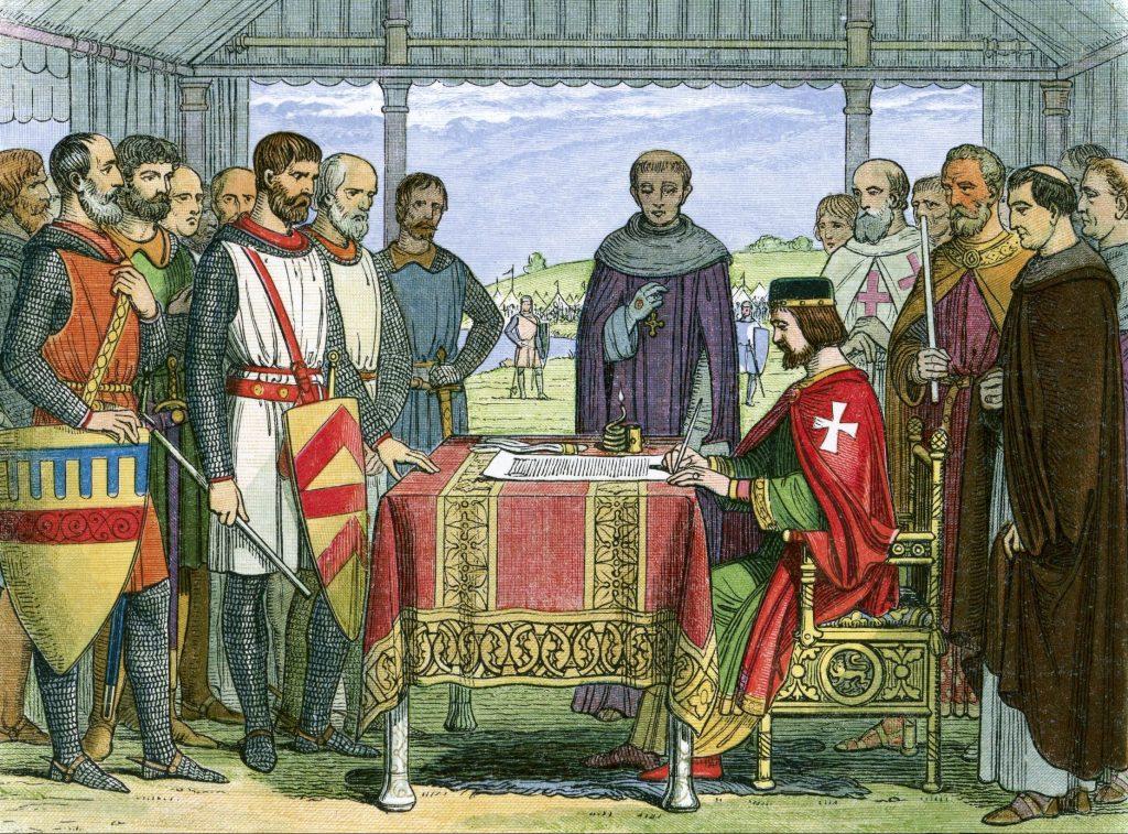 Kong John signerer Magna Carta