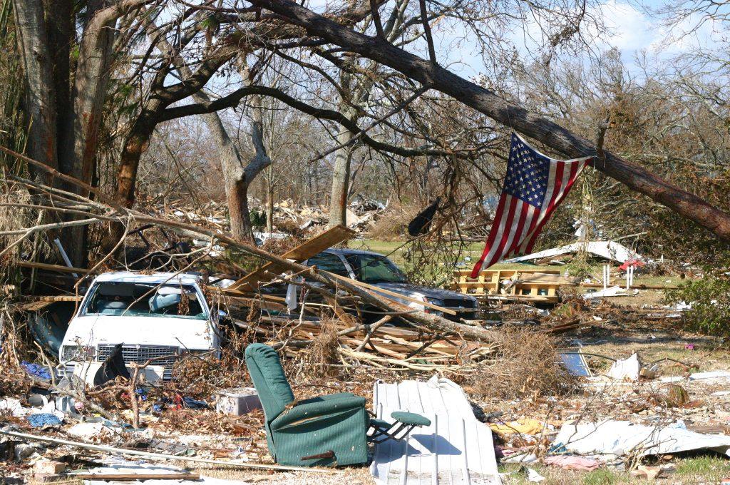 Orkan Katrina ødeleggelse