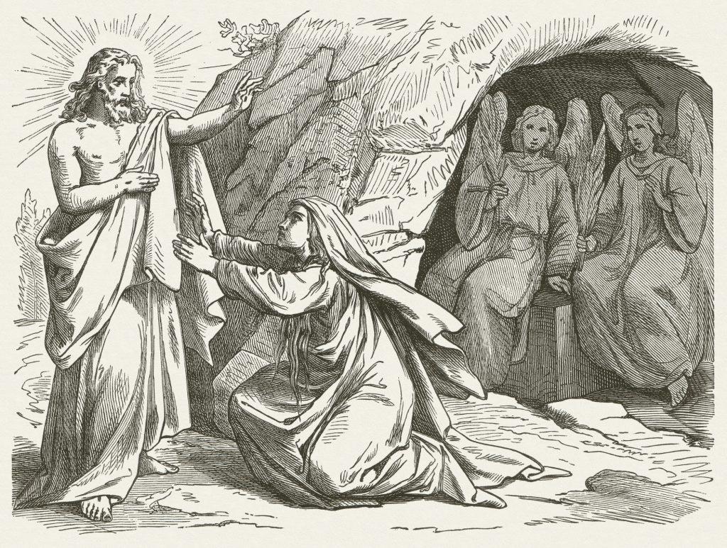 Mary Magdalene og Jesus, publisert 1877