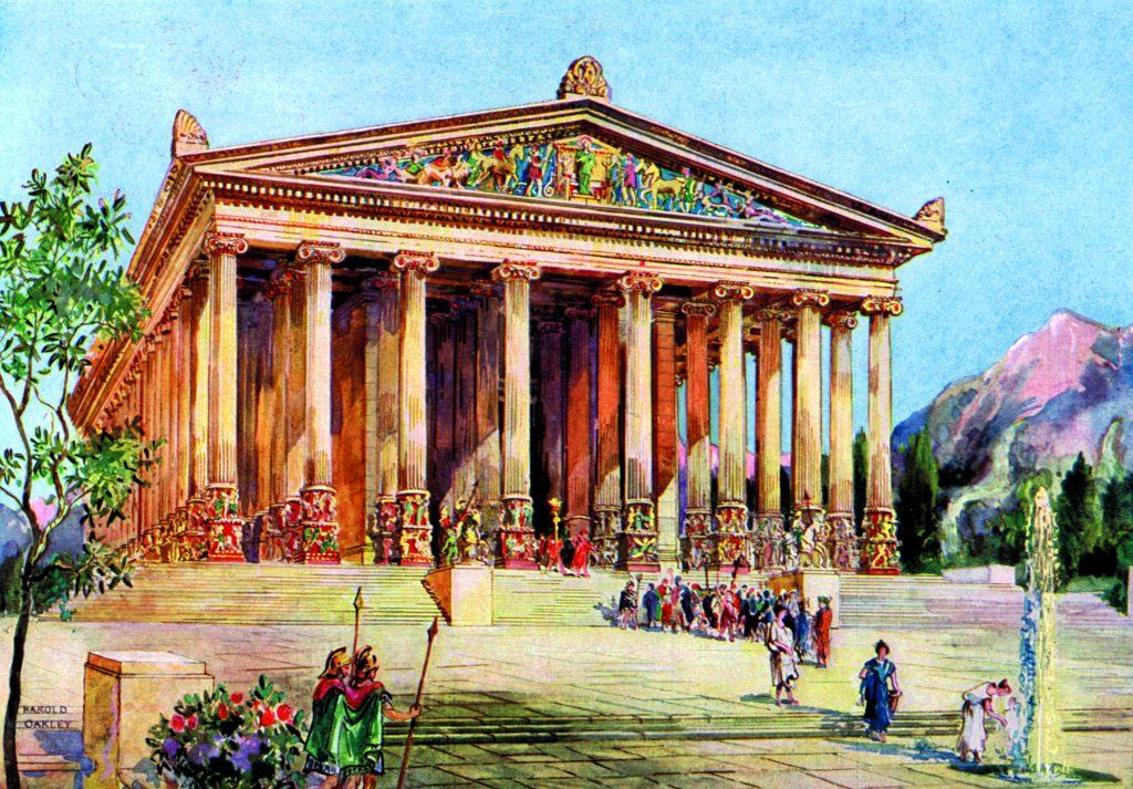 Tempel i Ephesus, Turkey, 1933-1934.