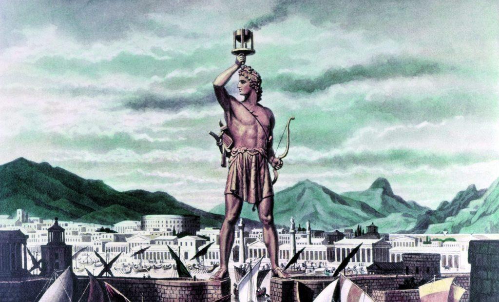 Illustrasjon av Kolossen på Rhodos