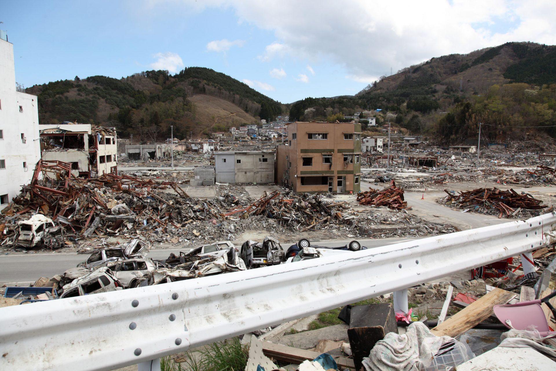 Skade etter jordskjelv, Japan
