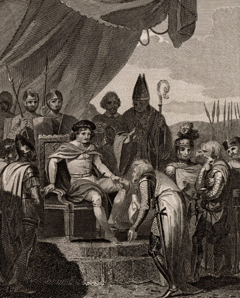 Magna Carta presentert til kong John av England