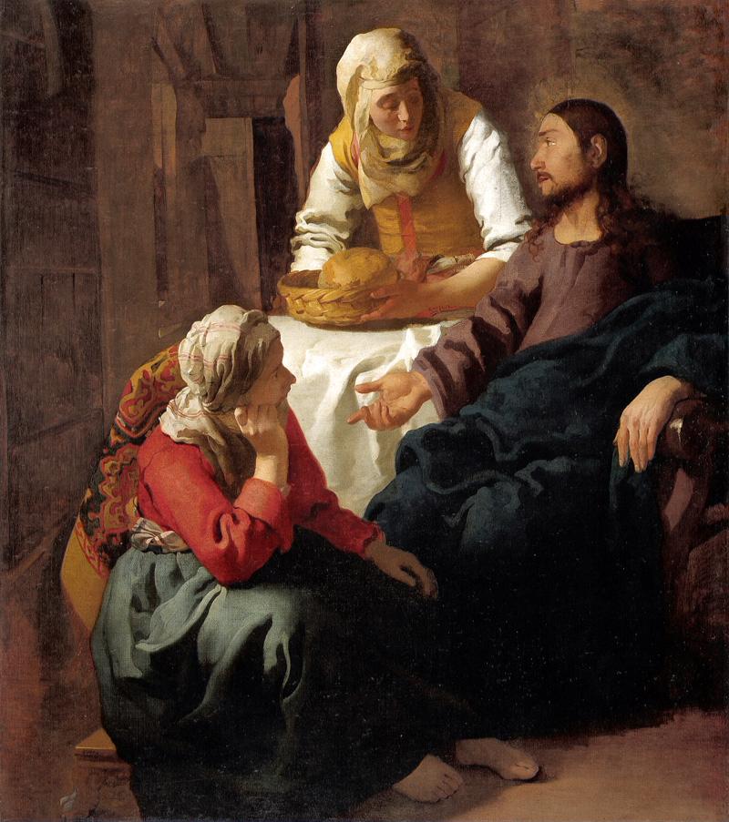 Maleri, Kristus i huset til Martha og Mary