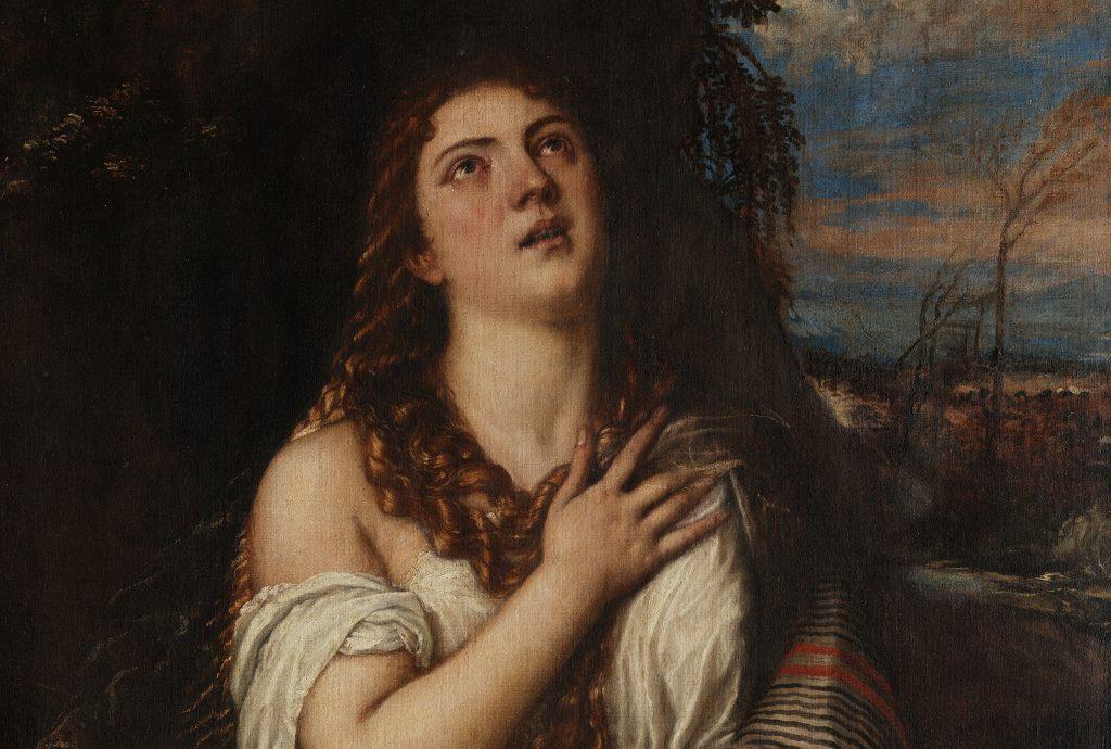Maleri av Penitent Magdalene