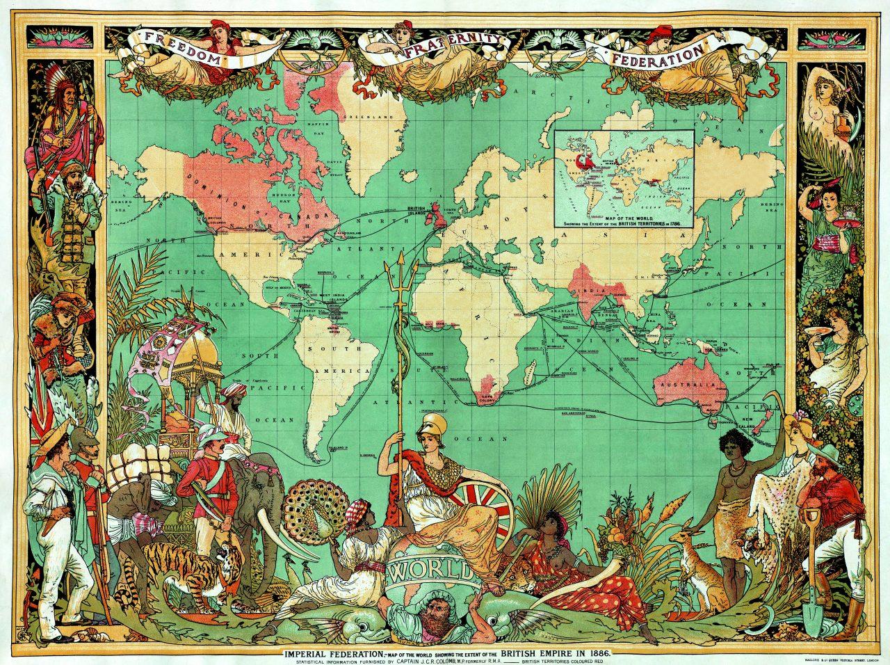 Kart over Det britiske imperiets