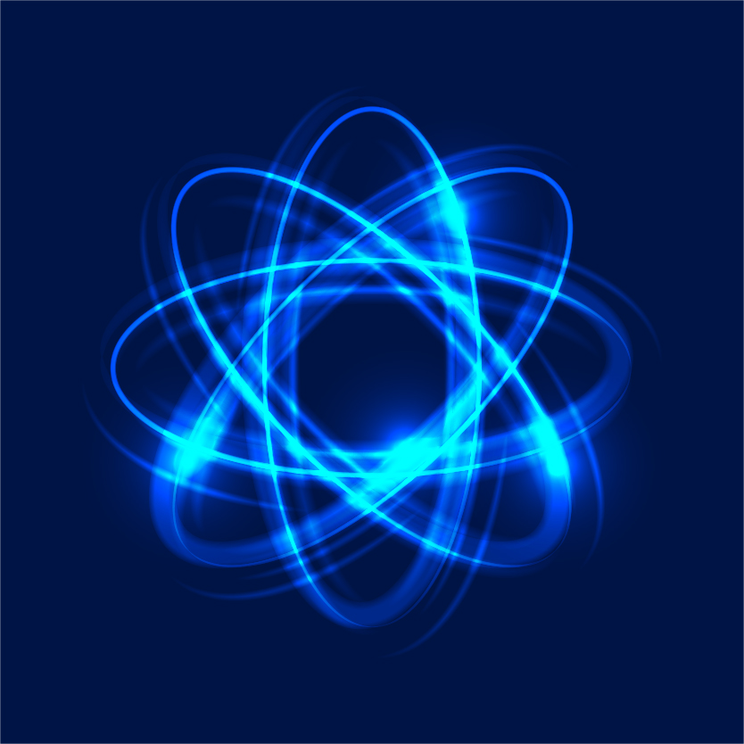 Glowing Atom