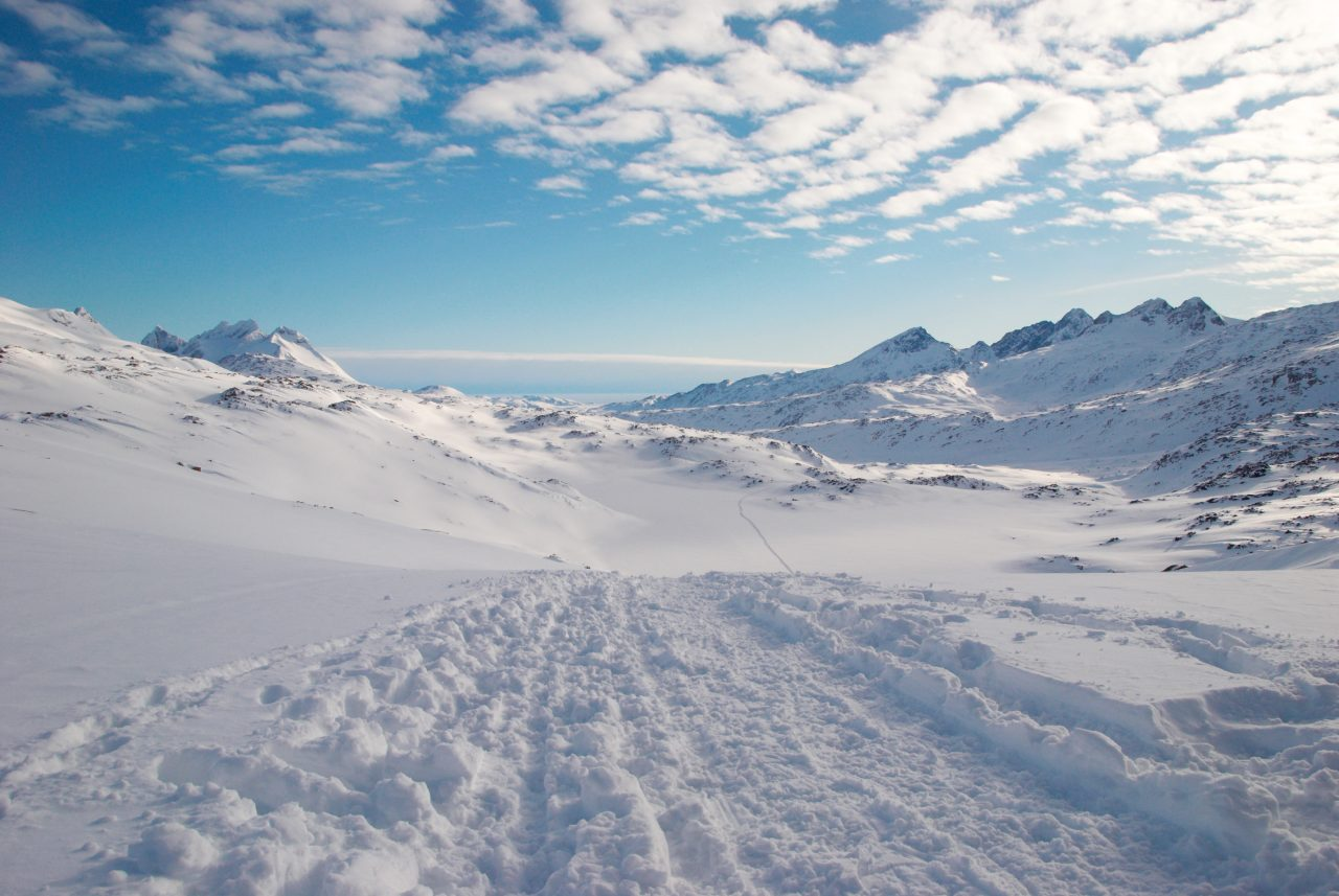 Landskapsbilde av Grønland