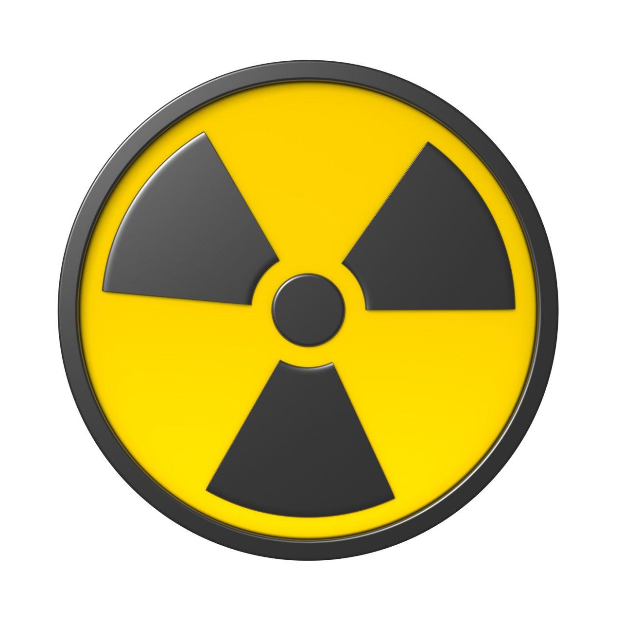 Et skilt som beskriver radioaktiv stråling