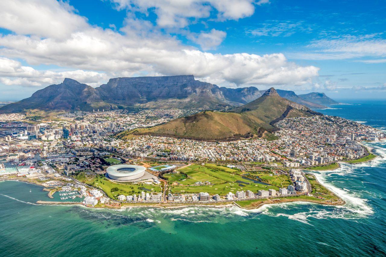 Oversiktsbilde av Cape Town and the 12 Apostels