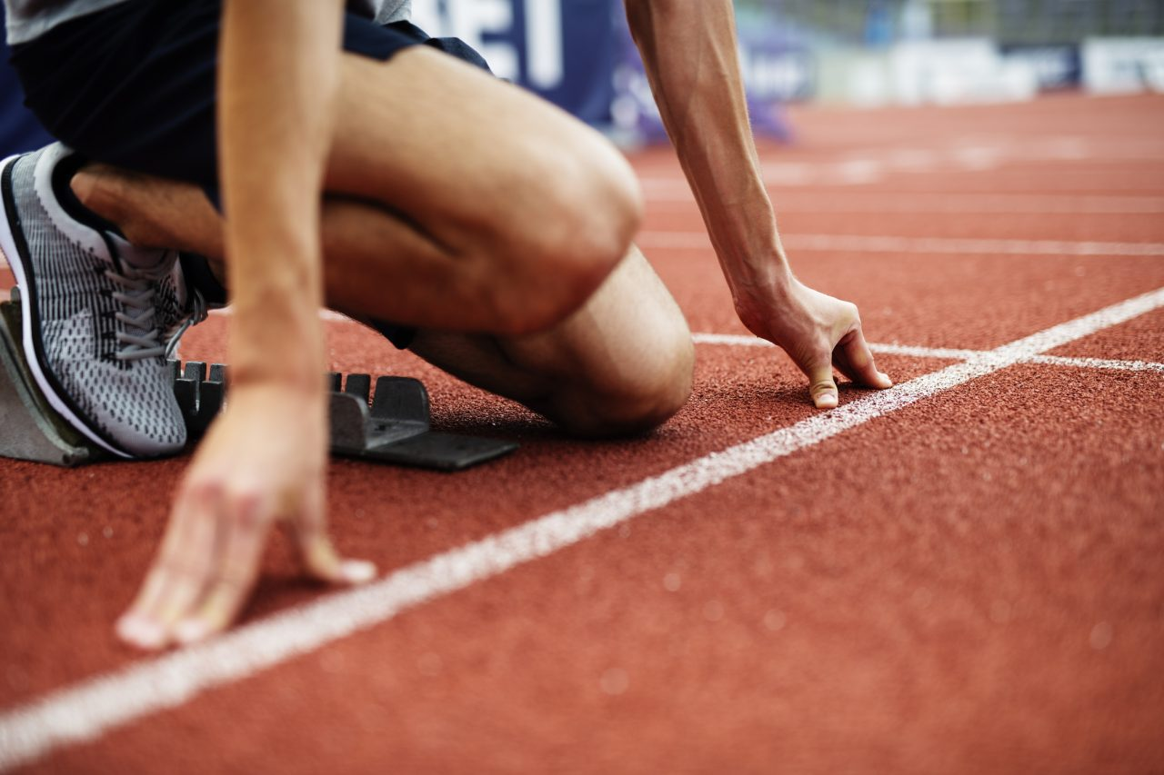 Sprinter gjør seg klar for løp