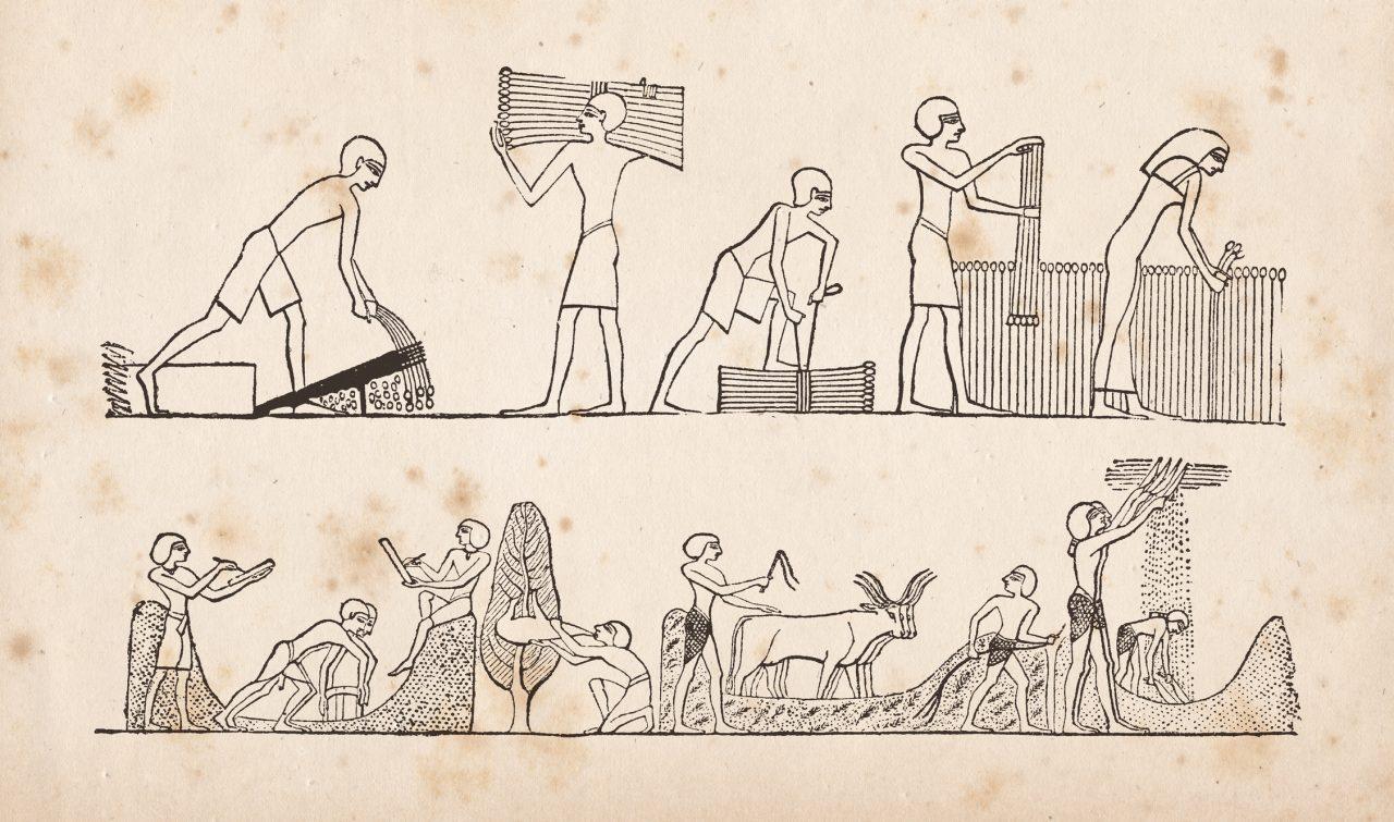 Hieroglyf av Egyptiske bønder
