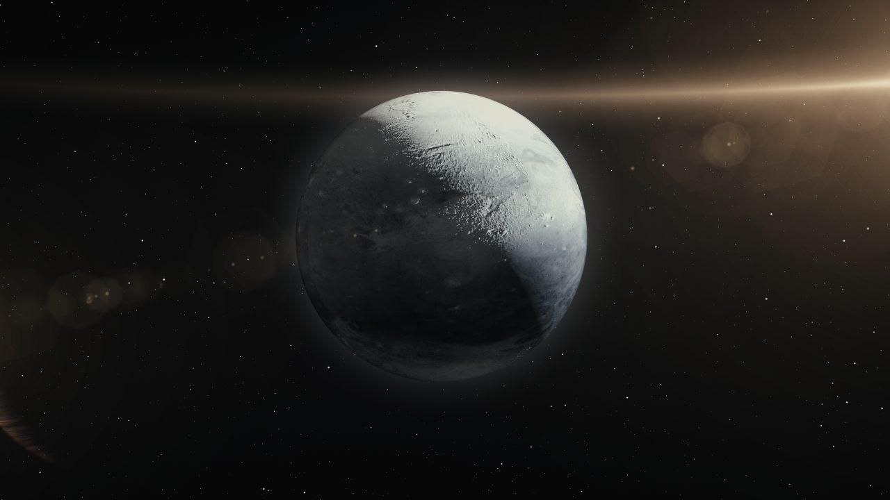 3D illustrasjon av Pluto
