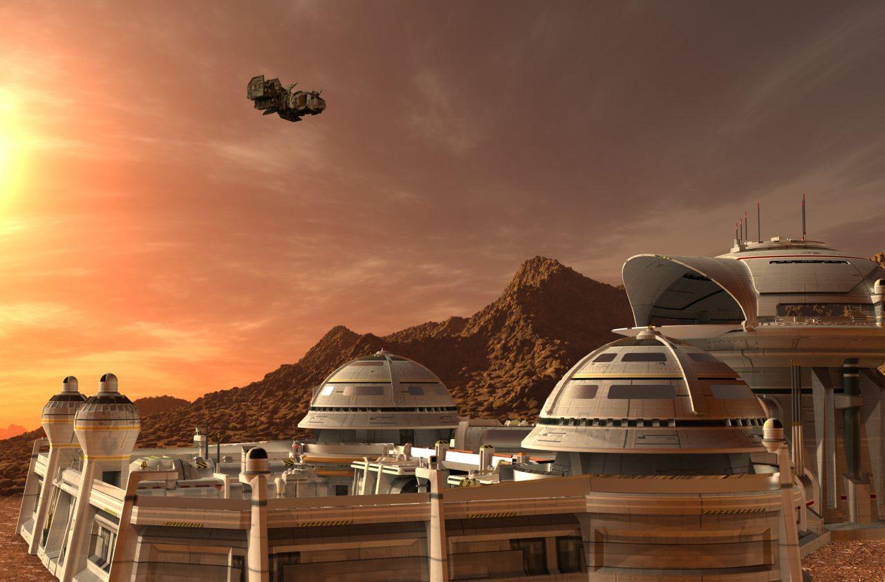 Illustrasjon av Mars
