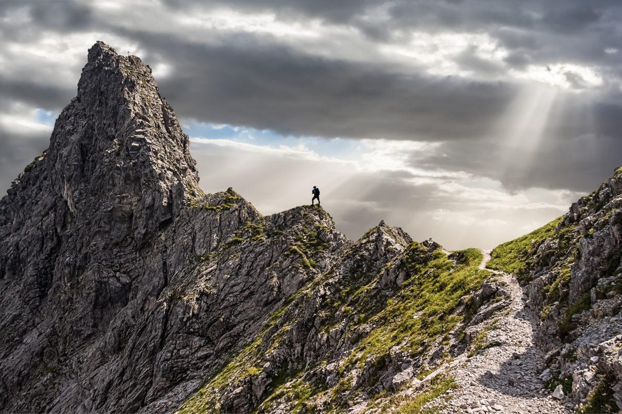 Person på klatretur
