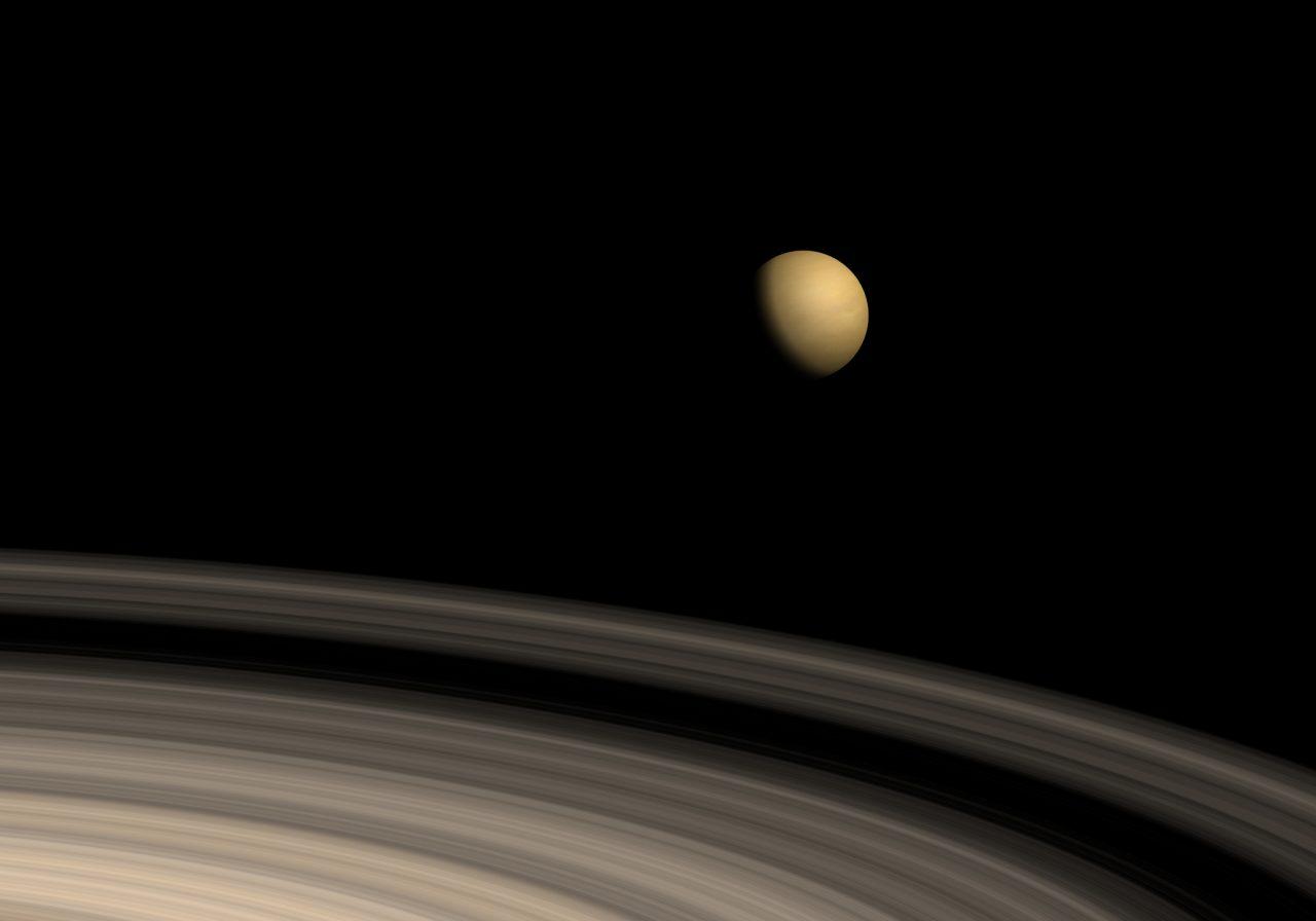 Titan og Saturns ringer