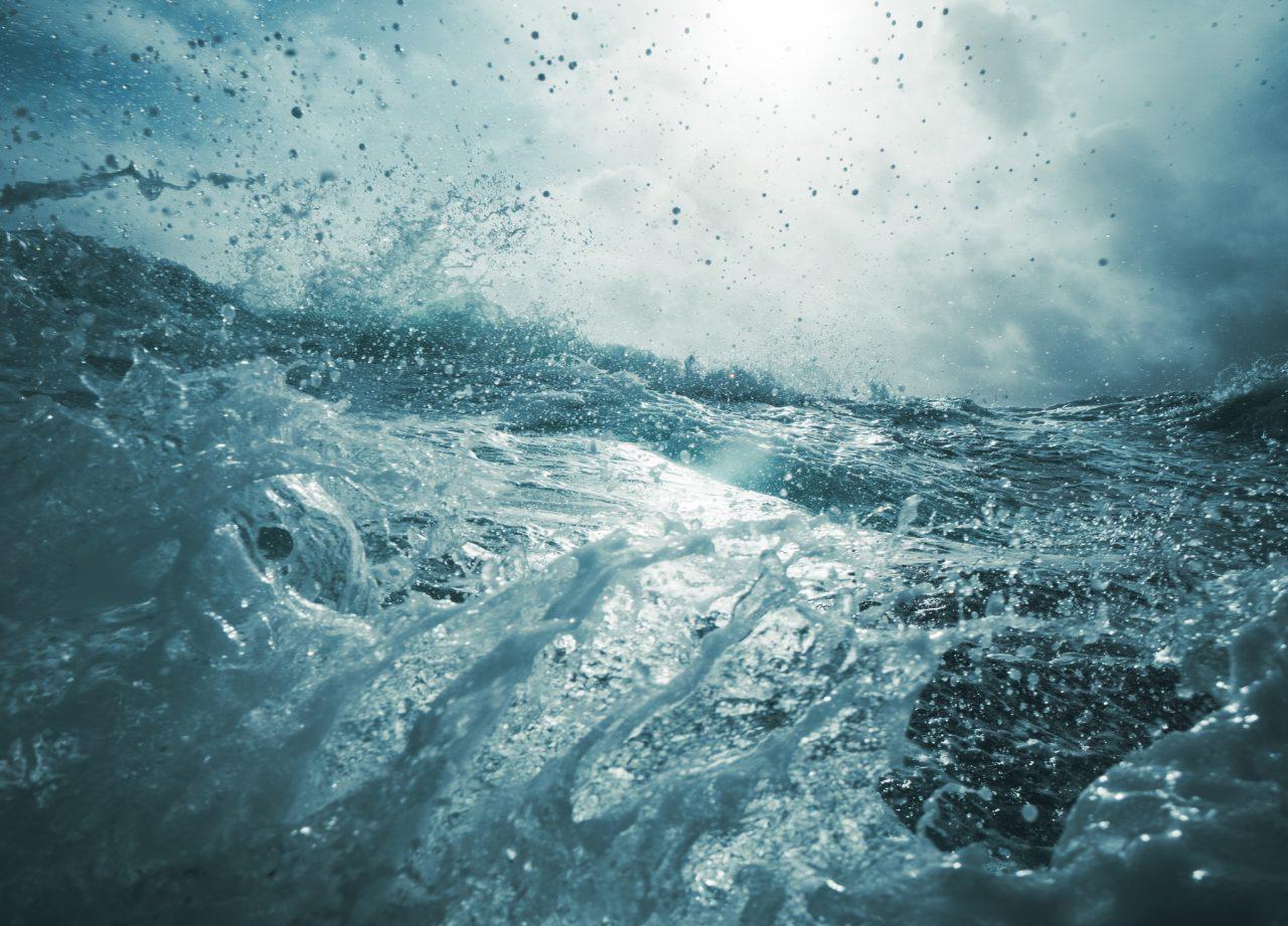 Storm ute på havet