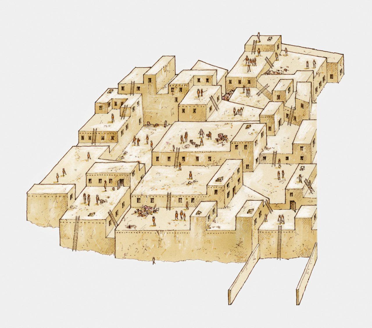 Illustrasjon av Çatalhöyük