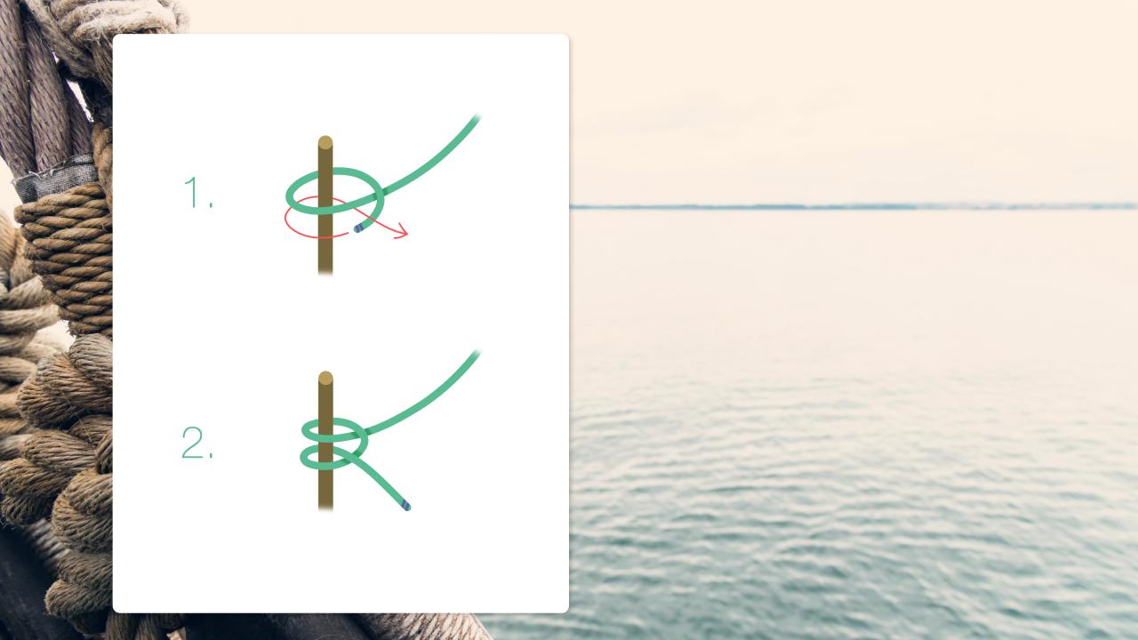 Dobbelt halvstikk illustrert