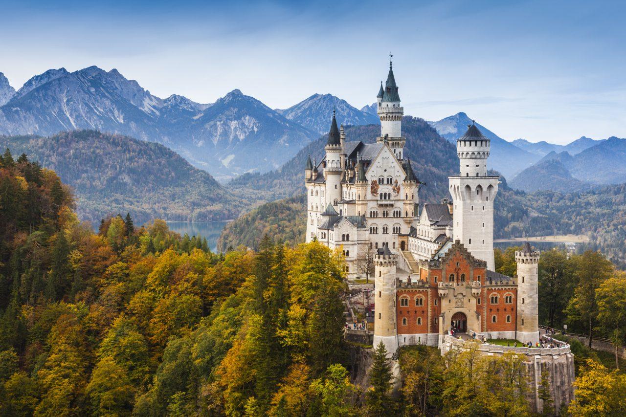 Neuschwanstein slott i Tyskland