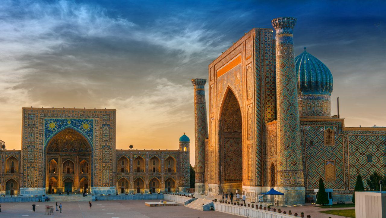 Samarkand i Usbekistan