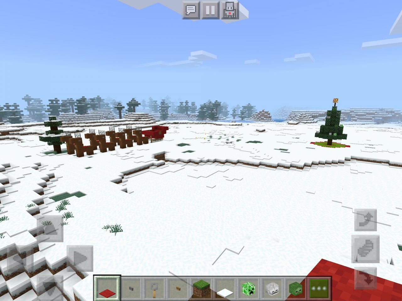 Juletre og reinsdyr