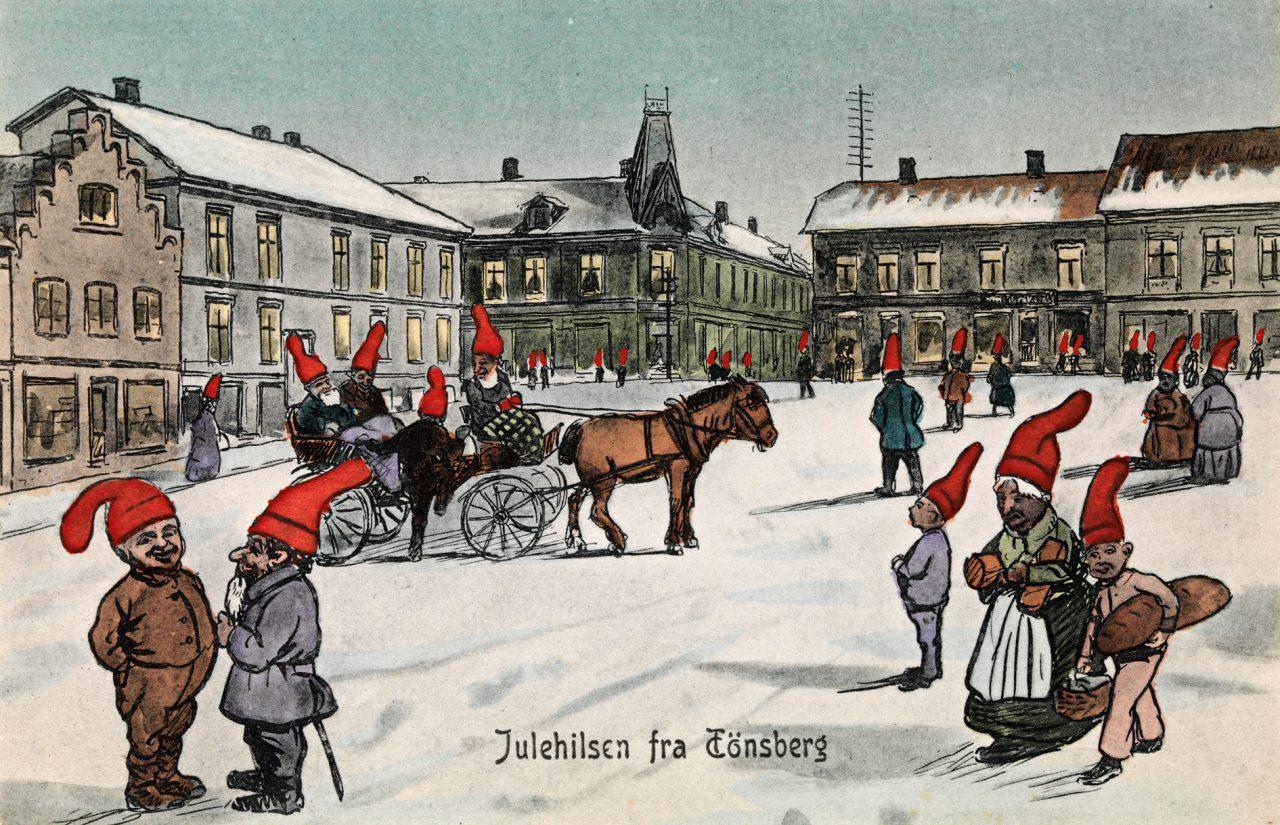 Julehilsen fra Tønsberg 1908