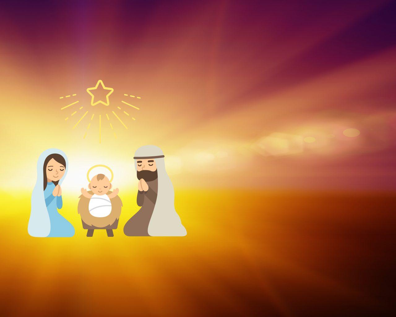 Illustrasjon av Julekrybben