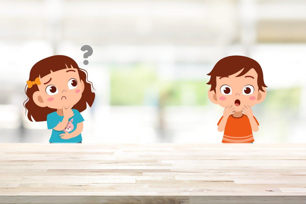 Jente og gutt på kjøkken