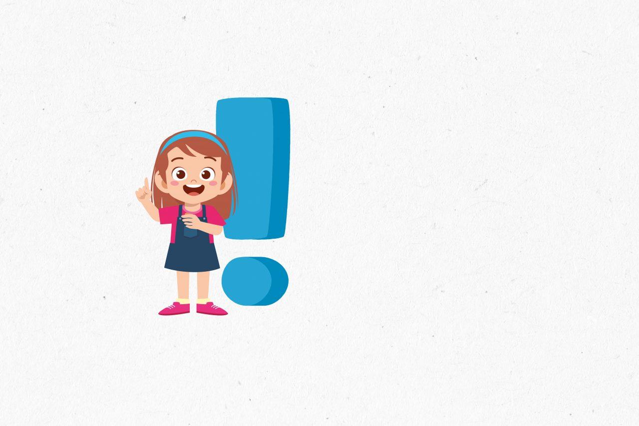 Jente med idé på papirbakgrunn