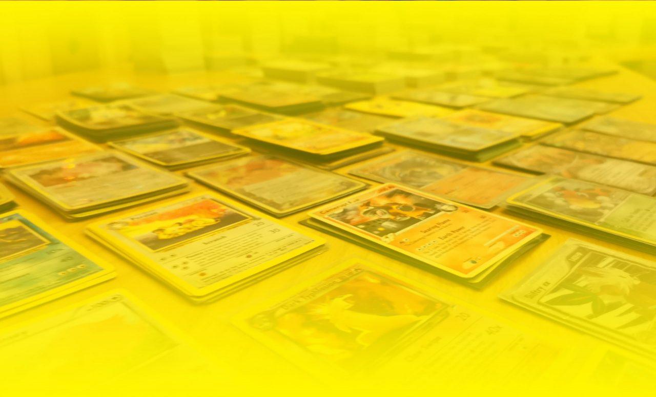 Bakgrunn av pokémon-kort