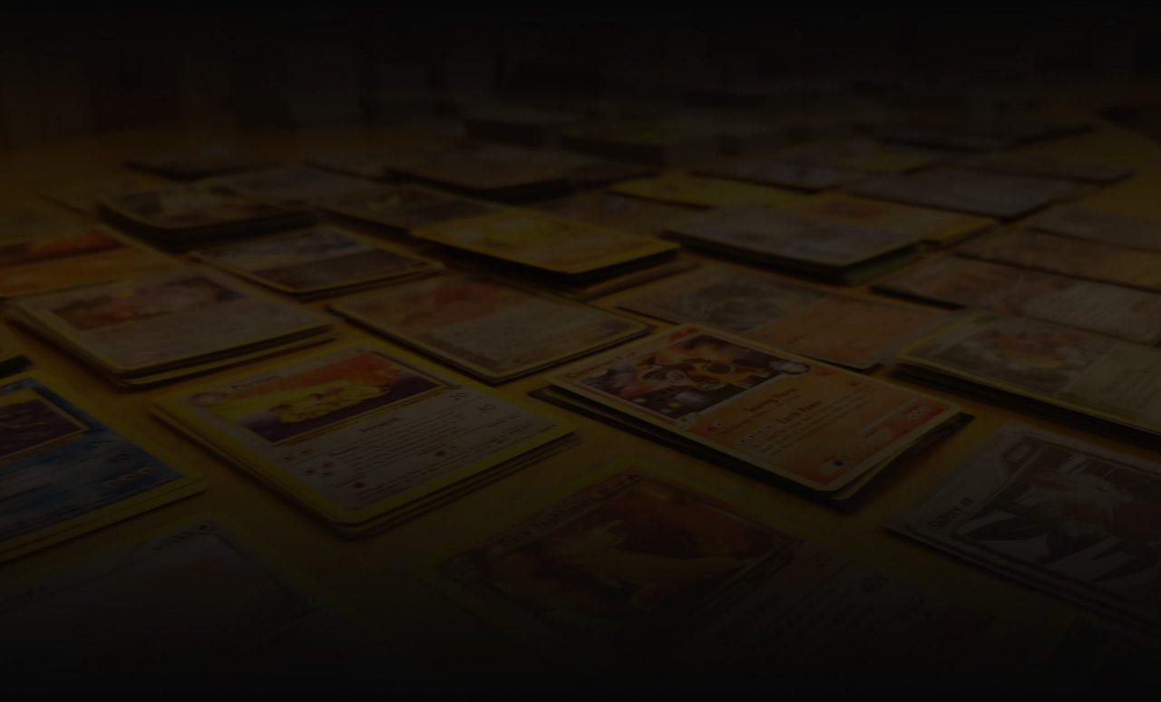 Bakgrunn med pokémon-kort