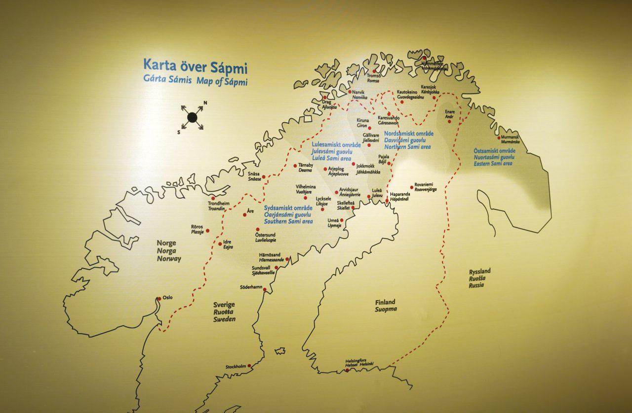 Kart over Sápmi
