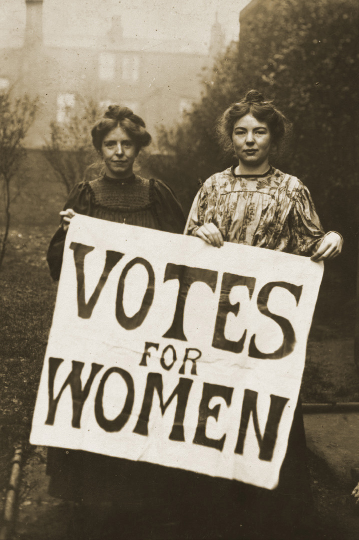 Annie Kenney og Christabel Pankhurst ledere i The Women's Social and Political Union i 1908