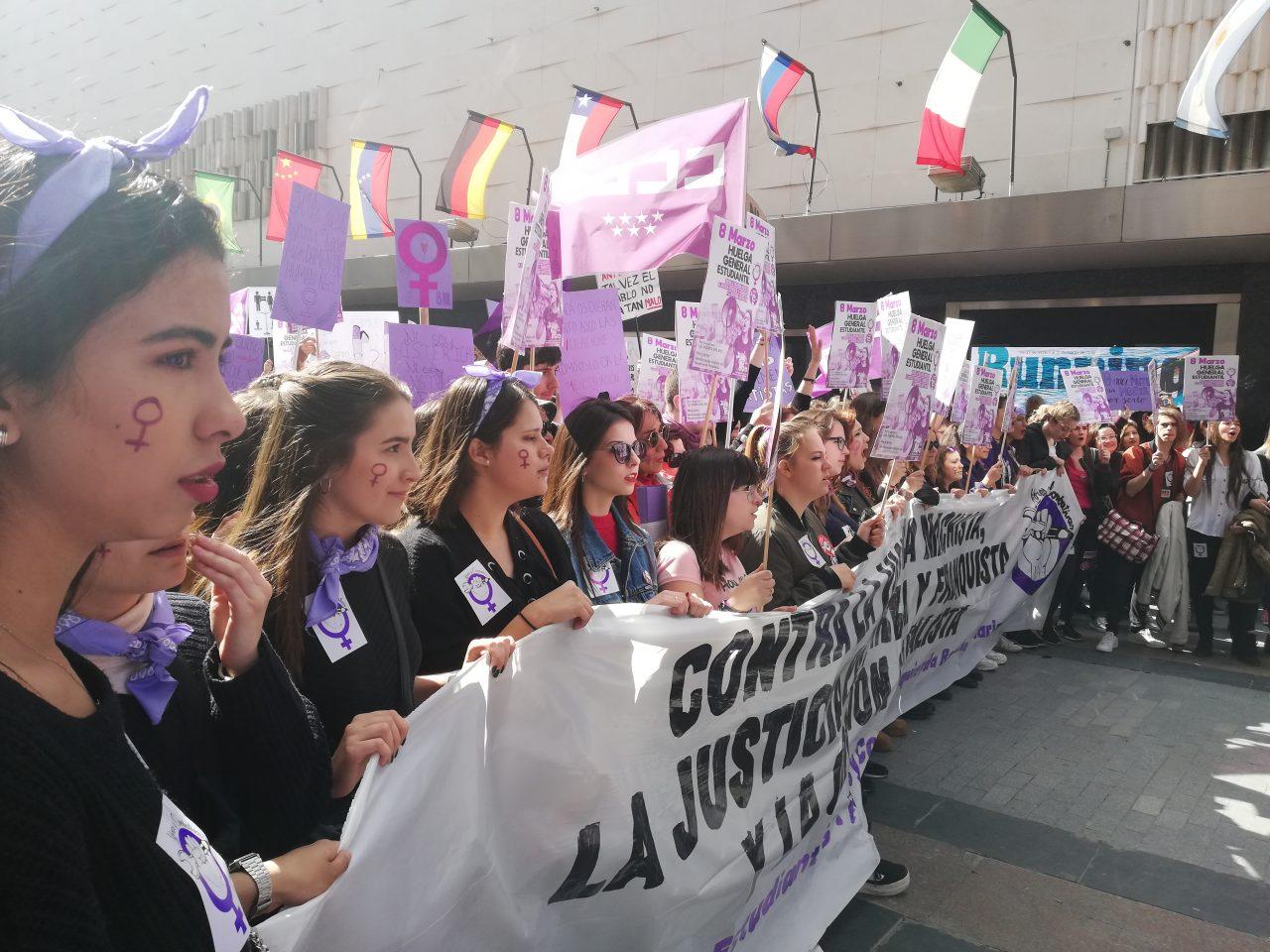 Kvinnedag tog i Spania i 2019
