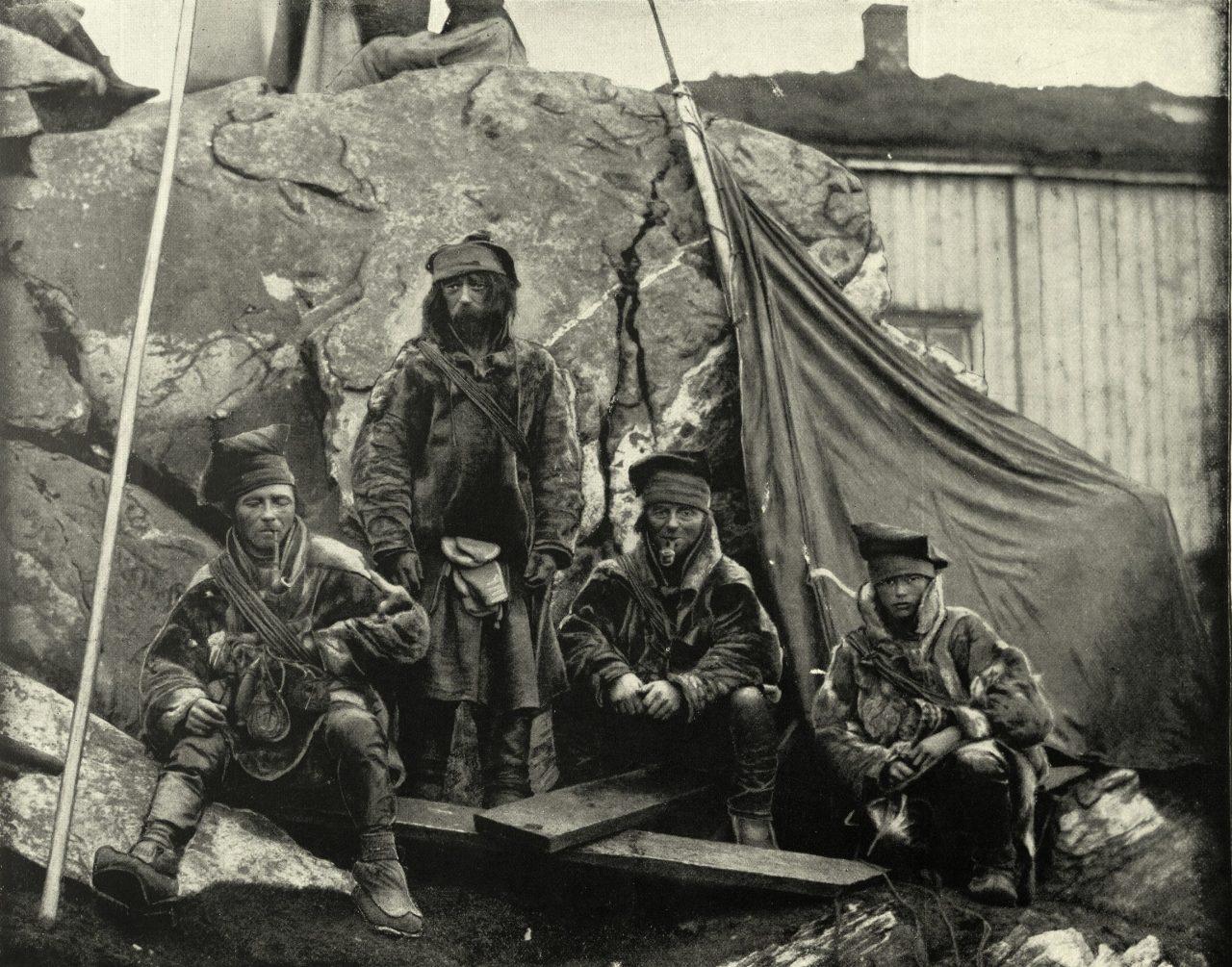 Bilde fra 1800-tallet av samer i Norge