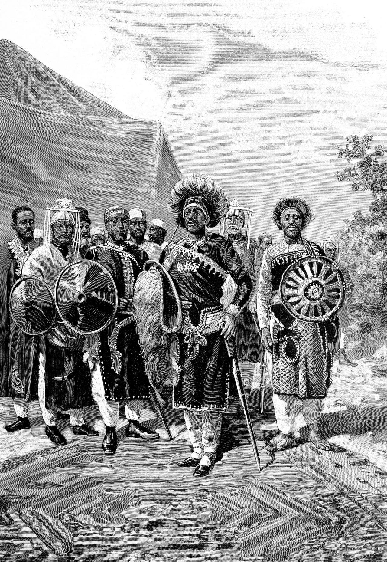 Keiser Menelik II av Etiopia sto imot italiensk kolonisering på slutten av 1800-tallet