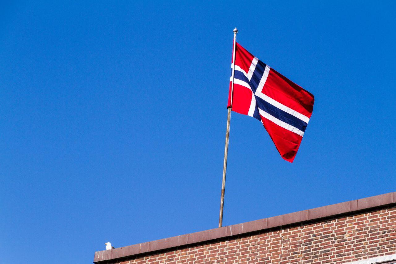 Det norske flagget heist