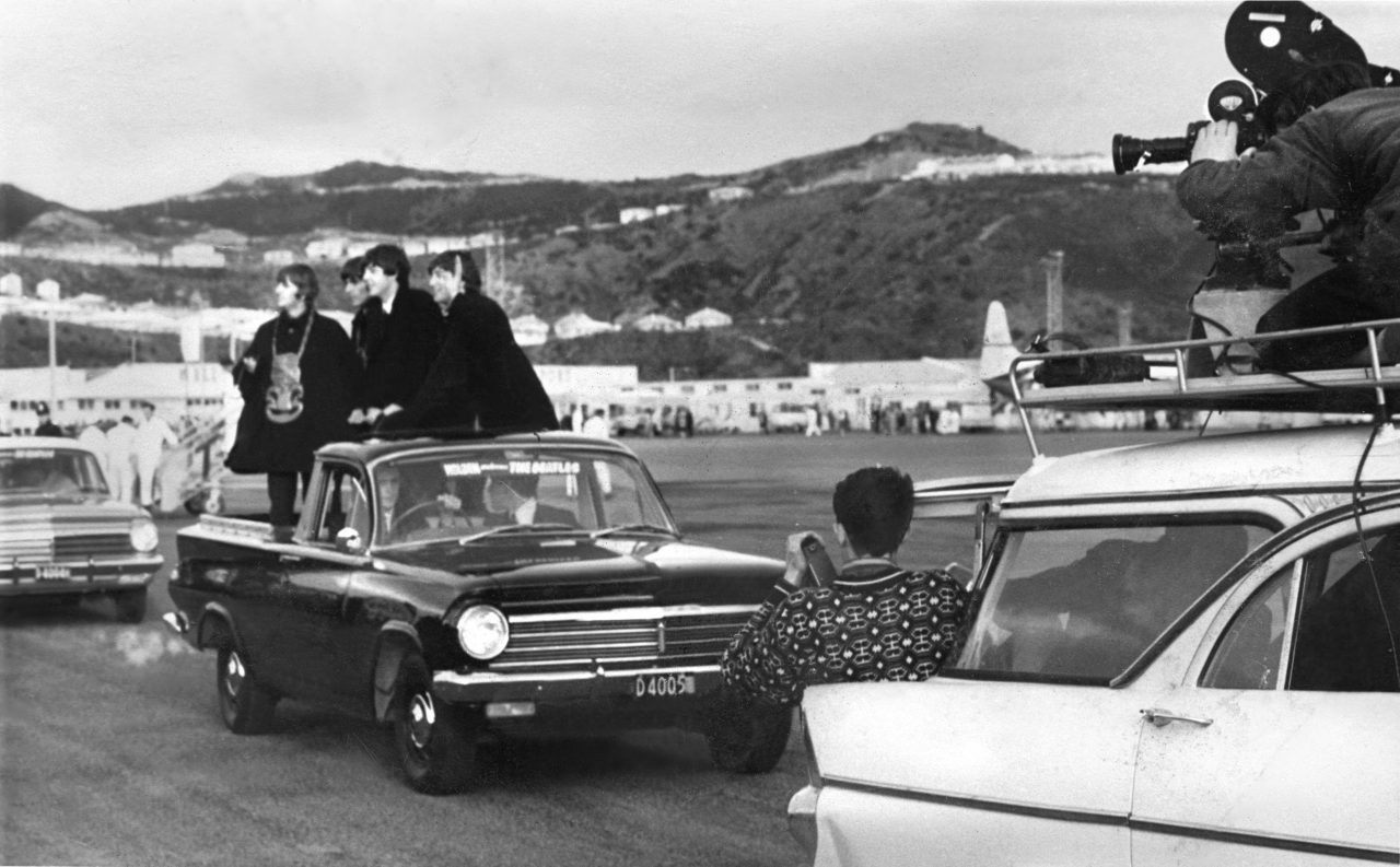 The Beatles, Wellington flyplass i 1964