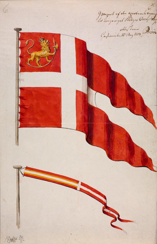 Det første norske flagget i 1814