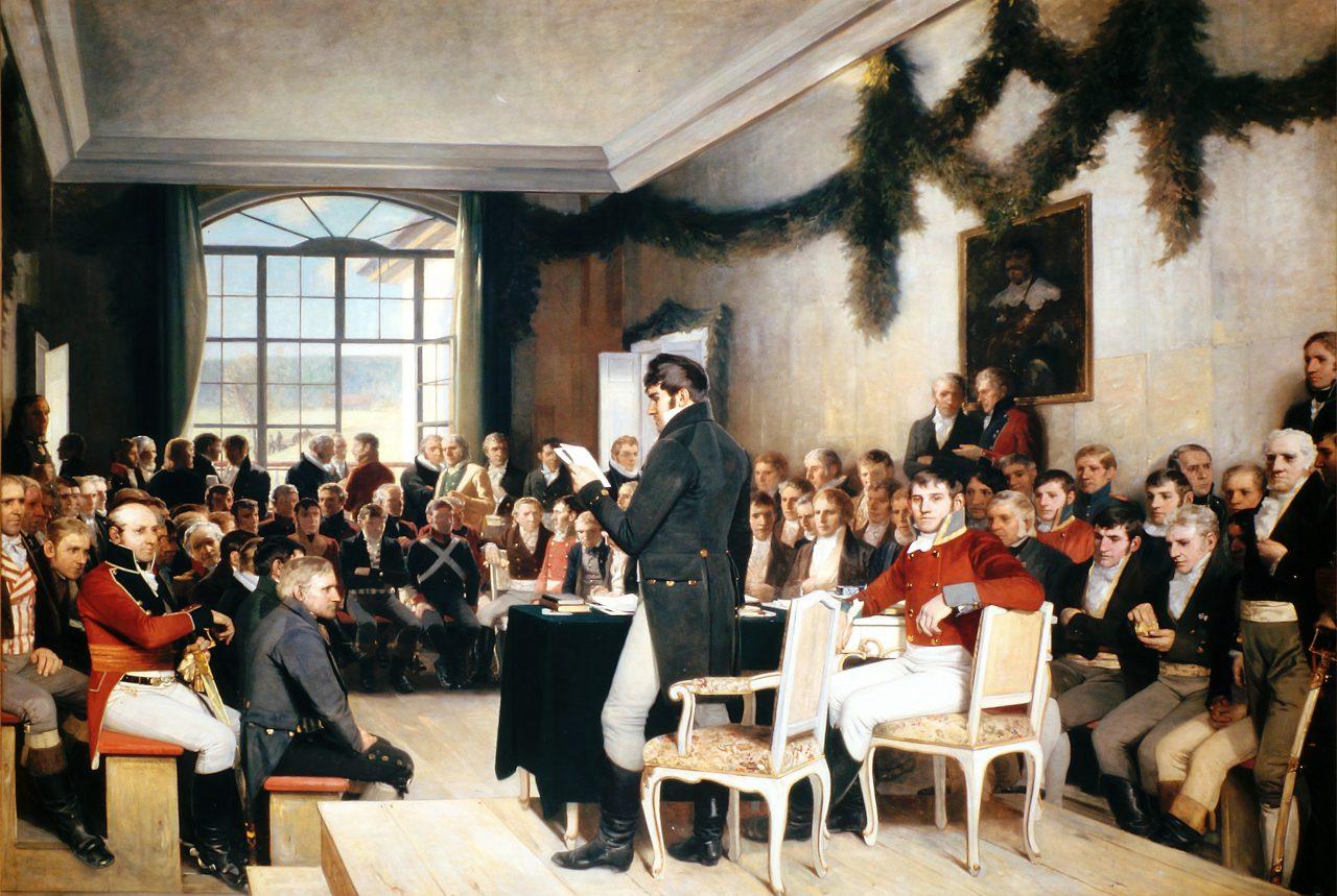 Grunnloven blir utformet 1814